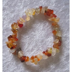 Carnelian Chip Bracelet (small/medium)