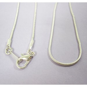 "18"" Silver Plated Snake Chain"