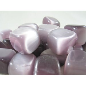 Lilac Cats Eye Tumble Stones (x3)