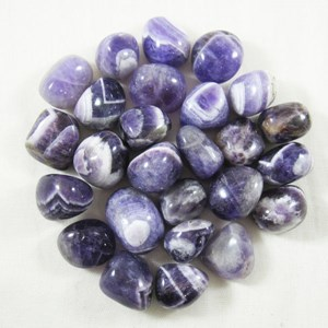 Chevron Amethyst Tumble Chips (x3)