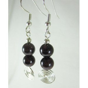 Sri Lankan Garnet Earrings