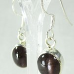 Cats Eye Silver Earrings