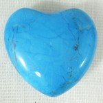 Turquoise Howlite Heart (small)