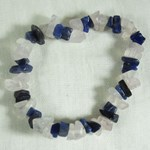 Sodalite and Rose Quartz Chip bracelet (s/m)