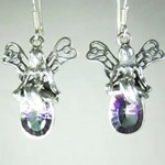 Mystic Topaz Fairy Silver Earrings