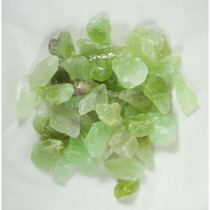 Green Calcite Chips (x 10)