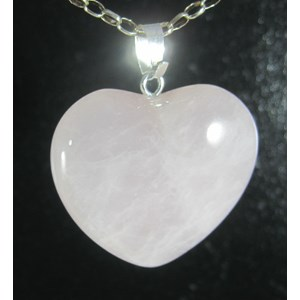 Rose Quartz Heart Pendant (small)