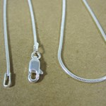 "16"" Solid Silver Snake Chain"