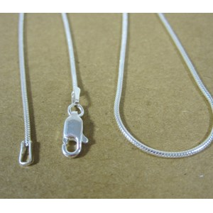 "20"" Solid Silver Snake Chain"