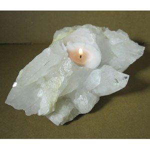 Rough Quartz Tealight Holder