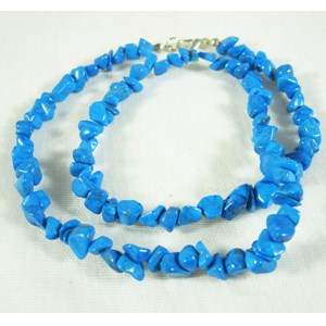 Blue Howlite Gemchip Necklace