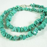 Malachite Howlite Gemchip Necklace