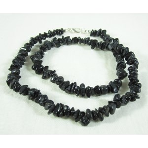Black Tourmaline Gemchip Necklace