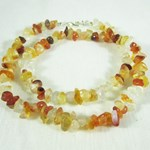 Carnelian Gemchip Necklace