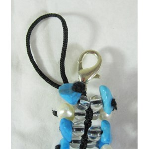 Turquoise Howlite Catkin Clip-on