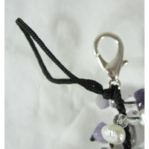 Amethyst Catkin Clip-on