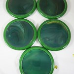 Green Agate Coaster Set in Box