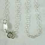 "Solid Silver Fine Cable Chain (20"")"