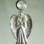 Archangel Moonstone Pendant (medium)