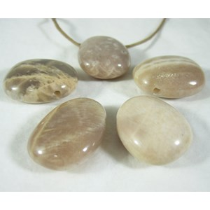 Moonstone Drilled Tumble Pendant (x 1)