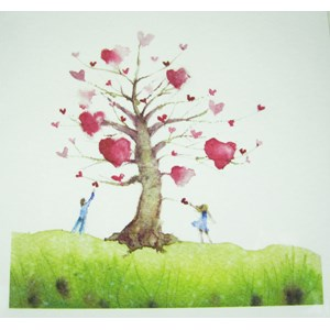 Hand-Picked-Heart Greetings Card