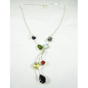 Mixed Crystal Necklace
