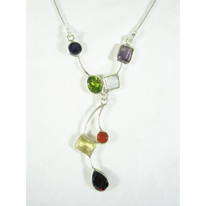 Multi-Crystal Necklace