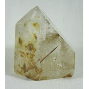 Phantom Quartz Rutilated Point
