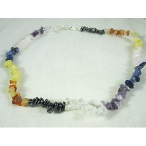 Multi Gemstone Chip Necklace