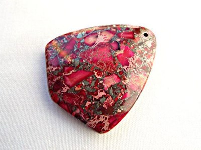 sea sediment jasper polished stone