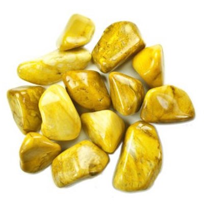 yellow jasper tumble stones