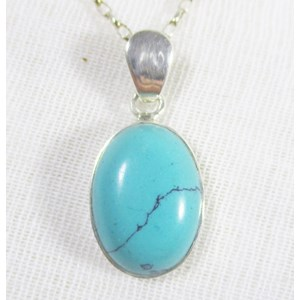 Turquoise Oval Pendant (smallish)