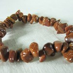 Red Goldstone Chip Bracelet s/m