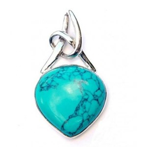 Turquoise Knot Pendant