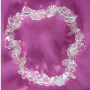 Clear Quartz Chip Bracelet (smallish)