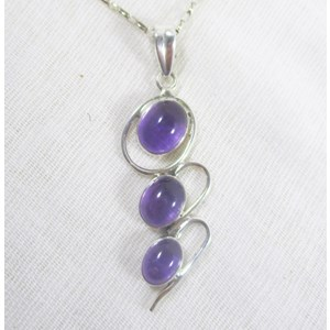 Amethyst Triple Drop Pendant