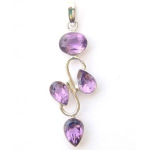 Faceted Amethyst Crystal Pendant
