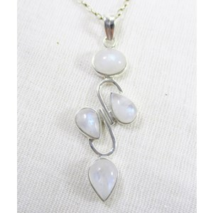 Rainbow Moonstone 4 Crystal pendant