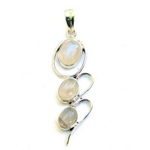 Rainbow Moonstone Triple drop Pendant