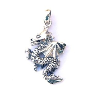 Beautiful Silver Dragon Pendant