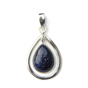 Pretty Blue Goldstone Pendant