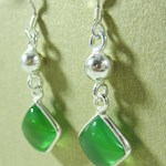 Chrysoprase Diamond Earrings