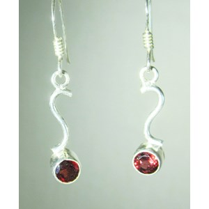 Delicate Garnet Earrings