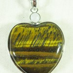 Tigers Eye Heart Pendant