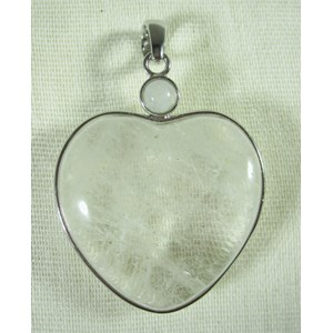 Quartz Heart Pendant