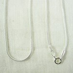 "Solid Silver Snake Chain (20"")"