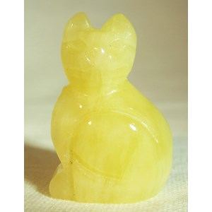 Yellow Calcite Cat