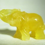 Yellow Calcite Elephant