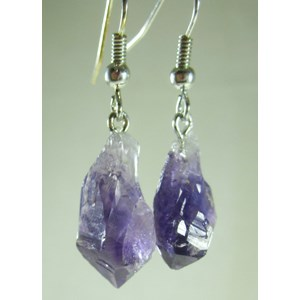 Amethyst Point Earrings