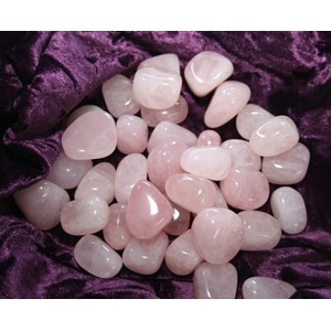 Rose Quartz Tumble Stones (x3)
